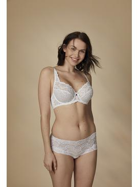 White Comfort Lace Full Cup Bra