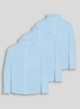 White Long-Sleeved School Shirts 3 Pack