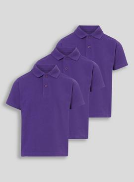 Online Exclusive Royal Blue Unisex Polo Shirts 3 Pack