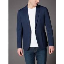 Navy Slim Fit Jersey Jacket
