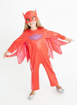 Red PJ Masks Owlette Costume - 2-3 years