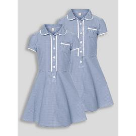 Pink Classic Gingham School Dresses 2 Pack