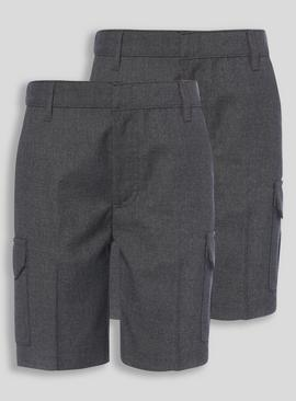 2 Pack Black Cargo Shorts (3-12 years)
