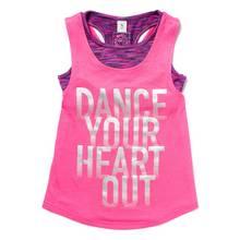 Pink Dance Vest Top and Crop Top Set