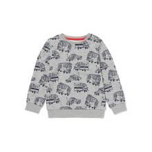 Grey Fire Engine Print Sweatshirt - 9-12 months