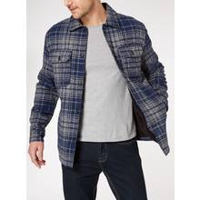 Borg Lined Checked Overshirt