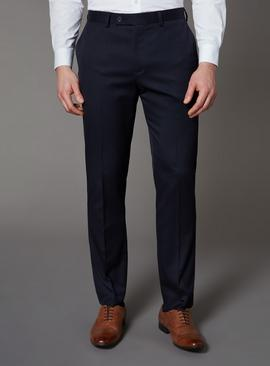 Navy Slim Fit Stretch Trousers