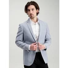 Online Exclusive Blue Chambray Suit Slim Fit Jacket