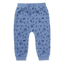 Blue Holiday Print Joggers (0-24 months)