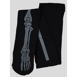 Halloween Black Skeleton Tights - 0-6 months