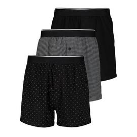 Black Printed Jersey Boxer 3 Pack