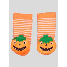 Halloween Orange Pumpkin Rattle Slipper Socks