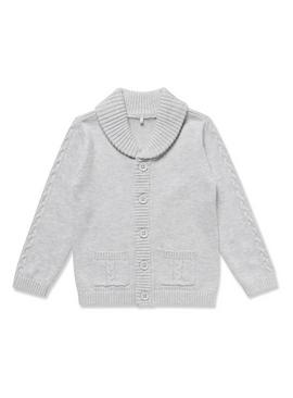 Grey Collared Cardigan