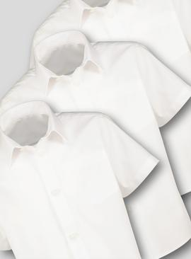 White Plus Fit School Shirts 3 Pack