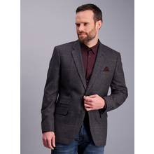 Grey & Brown Check Tailored Fit Jacket