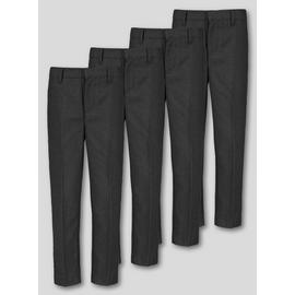 Black School Trousers 4 Pack