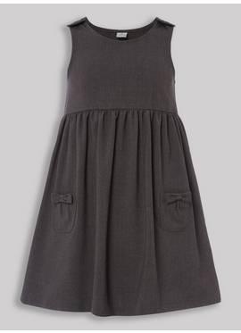 b944f06282 Grey Bow Pocket Pinafore Dress (3-12 years)