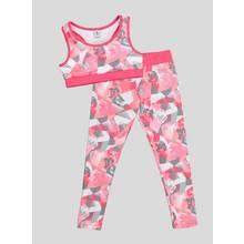 Pink Dance Crop Top and Leggings Set