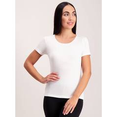 Cream 'Heat Active' Thermal Pointelle Crew Neck Top