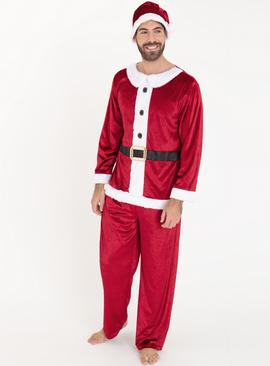 Online Exclusive Christmas Red Mr Santa Costume