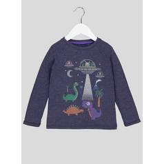 8094c7499d Black Dinosaur Long-Sleeved T-Shirt (9 Months - 6 Years)