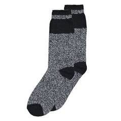 Mottled Grey & Black Thermal Socks - 6-11