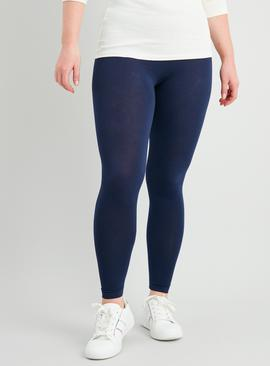 Navy & Black Leggings With Stretch 2 Pack