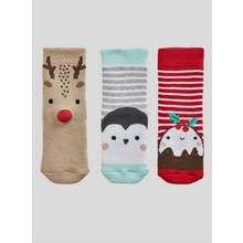 Multicoloured Terry Socks 3 Pack - Up to 1 mnth