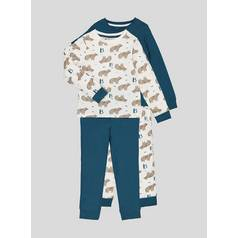 14146727e9 Bear Print Pyjamas 2 Pack (1-6 years)