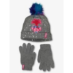508ebfb45c08b Trolls Grey Knitted Hat   Gloves Set (3-13 Years)