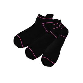 Active Black Blister Resist Trainer Socks 3 Pack - 4-8