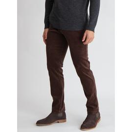 Brown Slim Fit Corduroy Chino