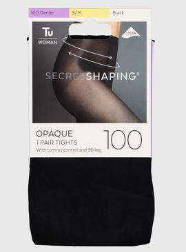 Secret Shaping Black Opaque Tights 100 Denier