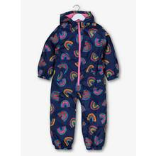 Navy Rainbow Shower Resistant Puddlesuit (9 months-6 years)