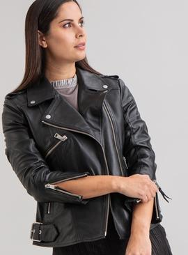 Online Exclusive Black Leather Jacket