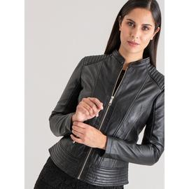 PREMIUM Charcoal Grey Leather Biker Jacket