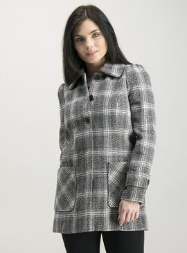 Online Exclusive PETITE Monochrome Check Coat