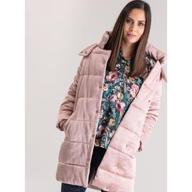 Pink Sheen Textured Padded Coat