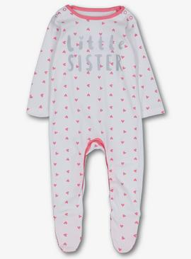 Online Exclusive Pink 'Little Sister' Sleepsuit