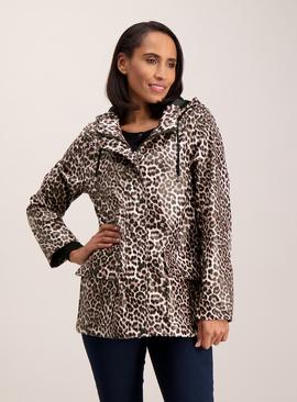 Multicoloured Animal Print Rain Coat