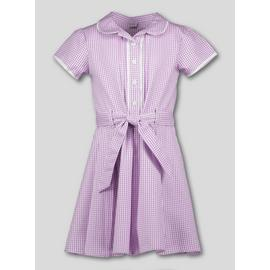 Navy Blue Gingham Classic School Dress