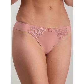 Online Exclusive Dusky Pink Lace Detail Thong