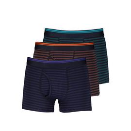 Multicoloured Striped Cotton Rich Trunks 3 Pack