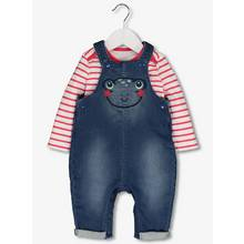 Blue Denim Novelty Frog Dungarees (0-24 Months)