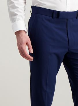 Cobalt Blue Tailored Fit Trousers