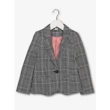 Monochrome & Pink Stripe Ponte Check Jacket (3-14 Years)