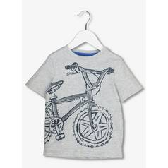 Grey Bicycle Print T-Shirt (12 months - 6 years)