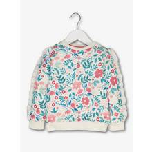 Multicoloured Floral Sweater With Frill Sleeves (9 months-6