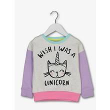 Multicoloured Unicorn Slogan Sweater (9 months-6 years)