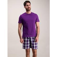 Purple Check Short Pyjamas